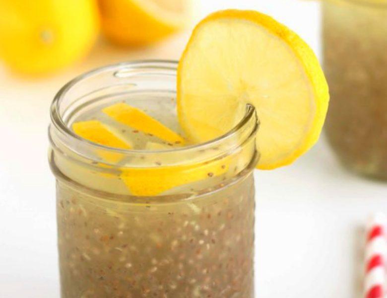 Bevanda depurativa con limone e chia: per l'organismo intossicato